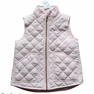 NWT! Crewcuts Outlet Pink Puffer Vest
